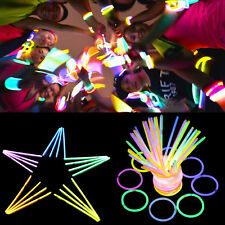 500 Mehrfarbig Knicklichter 200 x 5 mm im Farb-Mix oder einfarbig Leuchtstäbe