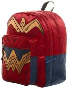 "NEW DC Comics Wonder Woman Dawn of Justice Backpack Batman Vs Superman 18"""