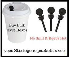 Coffee Lid Stopper Stixtogo 10 x 200  Espresso ToGo  Beverage Plug SEE VIDEO