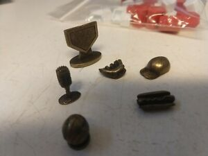 Monopoly Tokens Lot of 5 Unique Gold Movers Replacement Pieces Nice Cond + Hous