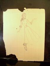 Maiden Sketch 1946-59 Original Pencil Sketch by C. Schattauer Kelm