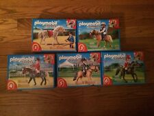 Playmobil Horses w/ Jockeys Lot of 5 Different New in Boxes! Read Description!