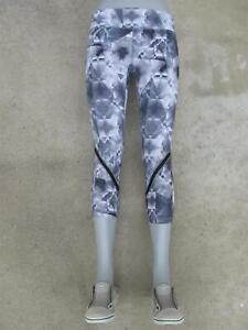 Zella Crop Capri Skinny Leggings Sz M Yoga Workout Tights Gray