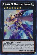 NUMBER 74 MASTER OF BLADES Yugioh MINT Rare Card NUMH-EN032 Secret