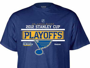 ST. LOUIS BLUES REEBOK 2012 STANLEY CUP PLAYOFF ROSTER  T-SHIRT