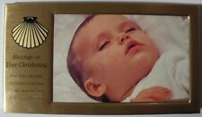 """GATTO  """"BLESSING ON YOUR CHRISTENING PHOTO FRAME"""" W356  MINT IN BOX"""