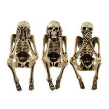 3 WISE SKELETONS, NEMESIS NOW, SEE NO EVIL, HEAR NO EVIL, SPEAK NO EVIL, NEM4341