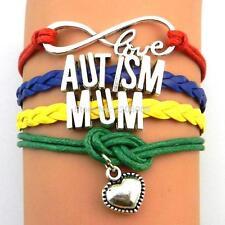 Lovely Friendship Autism Mum Awareness Bracelet.Stunning In Organza Gift Bag