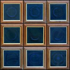 OP ART SILK RELIEFS TEXTILE SCULPTURE SERIES OF 10 WORKS FRAMED