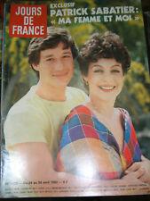 Jours de France N° 1425 24 avril 1982 Patrick Sabatier Mode été Maillot de bain