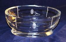 "Baccarat Crystal, TRANQUILITY Etch Clear Oval Bowl, 8 5/8"" by 4 3/4"" by 3 7/8"" H"