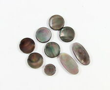 Saxophone Real Black mother of pearl  MOP Key Buttons