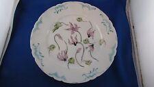 ancienne assiette porcelaine peinte limoges jean pouyat felix bracquemond fleurs
