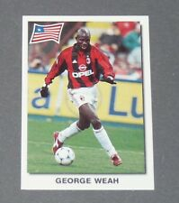 156 GEORGE WEAH LIBERIA AC MILAN MISTER PANINI SUPER FOOTBALL 99 1998-1999