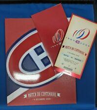 ☆☆NHL MONTREAL CANADIENS CENTENNIAL GAME TICKET & PROGRAM DEC.4, 2009☆☆
