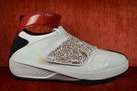CLEAN 2005 Nike Air Jordan XX 20 Size 13 WHITE RED LASER PATENT 310455-161