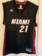 Miami Heat Men's Hassan Whiteside 21 Replica S Black Swingman Jersey Adidas 2014