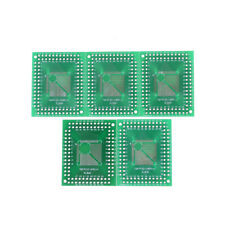 5pcs QFP/TQFP/LQFP/FQFP 32/44/64/80/100 to DIP Adapter PCB Board Converter WF