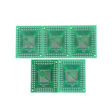 5x QFP / TQFP / LQFP / FQFP 32/44/64/80/100 zu DIP Adapter PCB Board ConvertAB