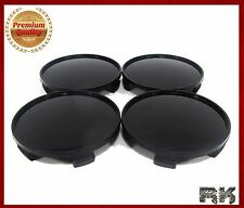 UNIVERSAL Wheel Center Hub Caps Covers Set 4 pcs 56mm / 52mm Black SEAT
