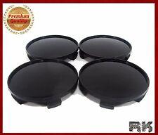 UNIVERSAL Wheel Center Hub Caps Covers Set 4 pcs 60mm / 55mm Black BEST QUALITY