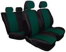 Car seat covers fit Fiat Grande Punto - XR black/green sport style full set