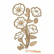 Poppies etched flower metal cutting die diy scrapbooking photo album paper craft