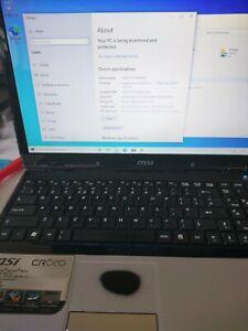 """MSI CR620 15.6"""" WINDOWS 10 LAPTOP (SEE BELOW)"""