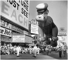 1959 Popeye  Balloon at Macy's Thanksgiving  Parade 8  x 10  Photograph