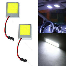 2x T10 24 SMD LED Panel Interior White Car Auto Dome Lights Lamp Adapters 12V