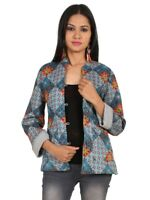 Anokhi For East Cotton Quilted Reversible Jacket Indian Print for Girls NJ-152