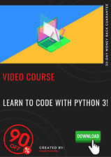 Learn to Code with Python 3! PROFESSIONAL video course training tutorial guide