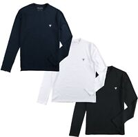 Guess T Shirt Men's Long Sleeve Super Slim Fit Crew Neck Blue Black White M94I34