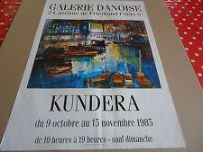 AFFICHE DU PEINTRE KUNDERA.1985.GALERIE DANOISE.PARIS.