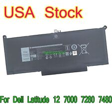 F3Ygt Li-ion Battery 7.6V 60Wh for Dell Latitude 12 7000 7280 7480 Dm6Wc 2X39G