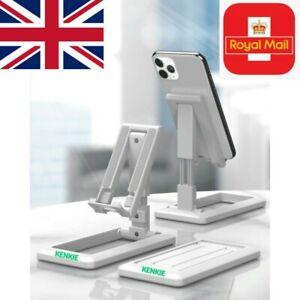 NEW Universal Adjustable Mobile Phone Holder Stand for Desk Foldable Portable UK