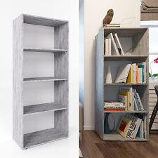 VICCO XL Bücherregal 155 x 60 cm Grau Beton - Büroregal Medienregal Dekoregal
