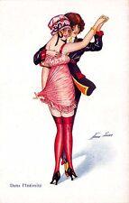 "Xavier Sager Signed Intimate ""Dansing-Girls"" Lesbian Postcard"