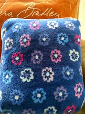 "VERA BRADLEY Travel Fleece Blanket Ellie Flowers 15564-I46 60""×45""  NWT Trolley"