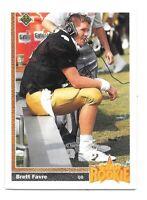 Brett Favre Rookie Card 1991 Upper Deck #13 Green Bay Packers HOF RC