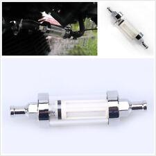 5/16'' 8mm Universal Fuel Filter Glass Motorcycle Car Petrol Diesel Inline Tube