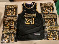 Kobe Bryant Black Mamba #24- Lakers - LARGE -Stitched W/ Tags - Never Worn