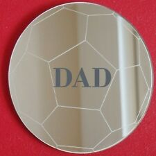 Personal Engraved Football Mirrors (3mm Acrylic Mirror, Several Sizes Available)
