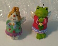 2 New Hallmark Miniature Porcelain Bell Ornaments
