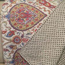 """VTG  RALPH LAUREN quilt coverlet paisley floral reversible 103 x 89"""""""