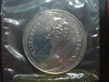 1969 Canada Voyageur Nickel Dollar Sealed in Plastic as Cut from Proof-like Set