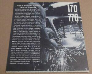 1961 DODGE LANCER 170-770 PRODUCTION LINE / SPECS DEALER ADVERTISEMENT AD 61