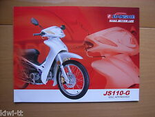 Chongqing Jianshe Motorcycle JS 110-G Prospekt / Brochure / Depliant, China