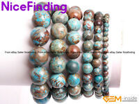 Blue Crazy Lace Agate Beaded Energy Healing Stretch Bracelets Man Women Jewelry
