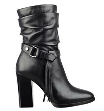 NWT Guess $148 Tamisin round toe Ankle Booties Leather Boots Black US 9, EU 39